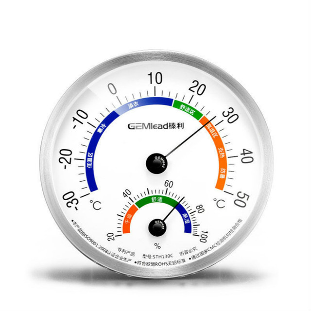 Stainless steel sauna outdoor thermometer and hygrometer battery do not need to adjust