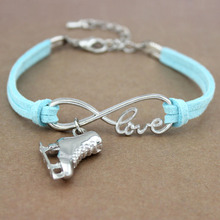 Ice Skate Shoe Skating Sports Gymnastics Infinity Love Charm Bracelets Women Men Girl Boy Unisex Jewelry 20 Colors to Choose полочка grohe tempesta classic 27596000 на душевую штангу хром