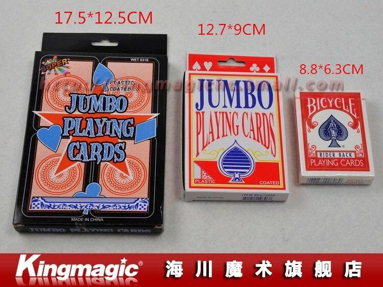 Kingmagic Джамбо палуба(12.7x9 см) магия Покер магические карты магия реквизит