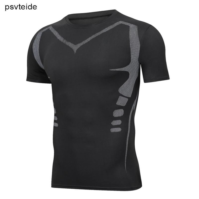 Working T Shirt Males 3D Working T-Shirt With Print Base Layer Biking Shirt Rash Guard Plus Dimension Males Compression T Shirts Trend