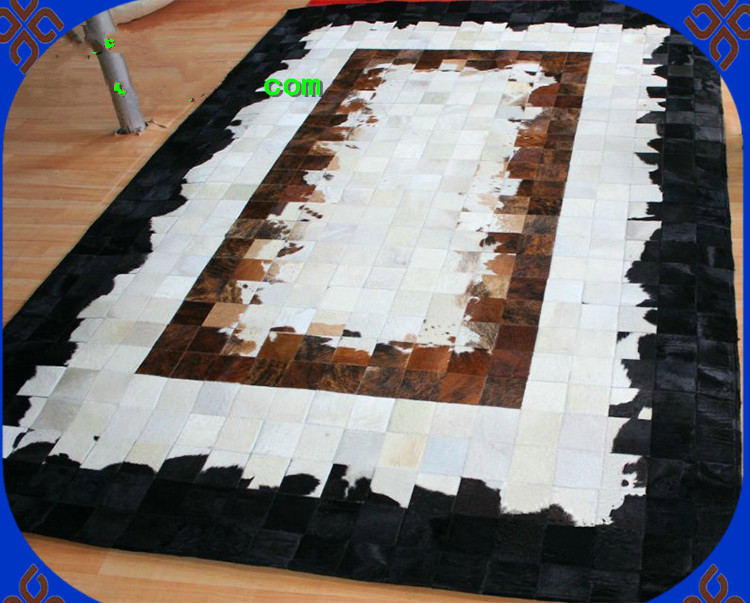 Natural Cowhide Cow Leather Rugs For