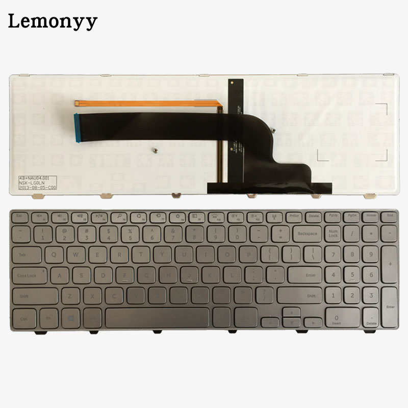 New US keyboard for Dell Inspiron 15-7000 series 7537 English silver Laptop Keyboard whit backlitNew US keyboard for Dell Inspiron 15-7000 series 7537 English silver Laptop Keyboard whit backlit