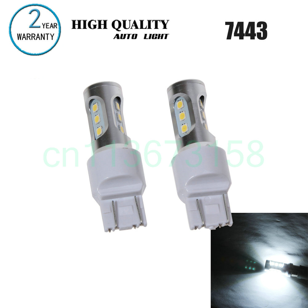 Free Shipping 2pc/lot car-styling Car Led Lamp 7443 Front Turn Signal Light Bulb Parking Light For Nissan Pathfinder 2010