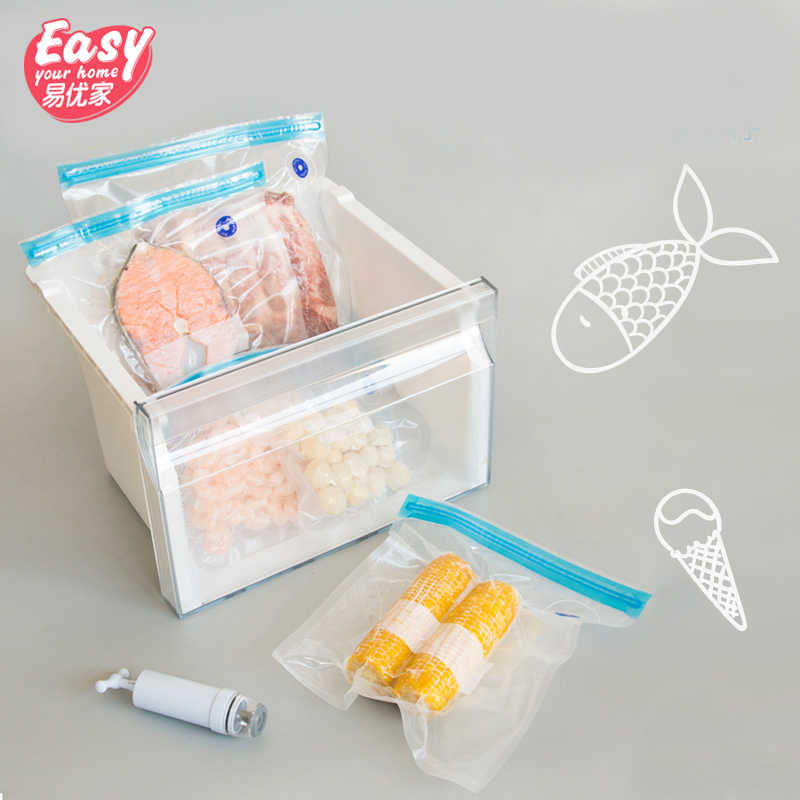 Vacuum Food Storage Bag Hand Pump Food Packaging Plastic Reusable Vacuum Sealer Sous Vide Bags
