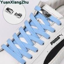 1Pair New Elastic Cross buckle ShoeLaces 1 Second Quick No Tie Shoe laces Kids Adult Unisex Sneakers Shoelace Lazy Laces Strings