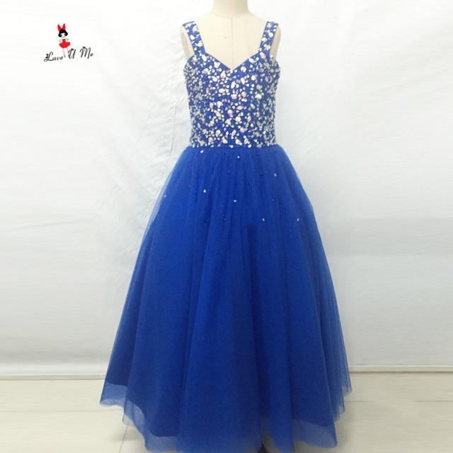 Cute Blue Mother Daughter Gowns Little Girls Evening Gowns Ruffles ...