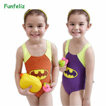 Kids Swimmer girls bathing suit infantil swimwear for bathers children one pieces lovely girl swimsuit 3-12 age