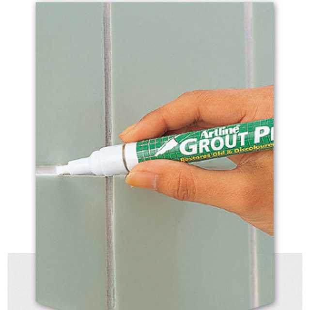 White Tile Gap repair pen 2-4mm line width Tile Refill Artline Grout Pen Quick drying Tile Seam Repair pen Waterproof Mouldproof