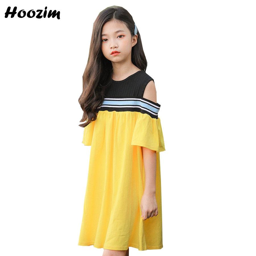 Summer Yellow Holiday Dresses Teenage Beautiful Cotton ...