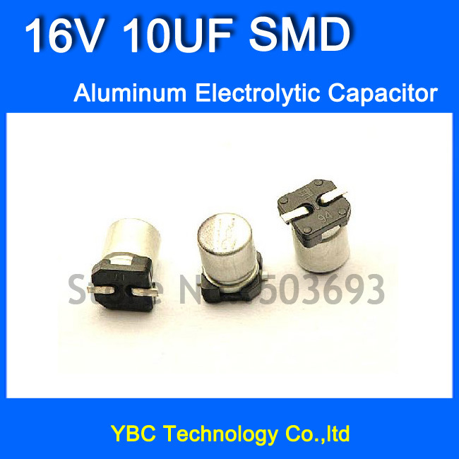 Free Shipping 200pcs/lot <font><b>16V</b></font> <font><b>10UF</b></font> SMD Aluminum <font><b>Electrolytic</b></font> <font><b>Capacitor</b></font> 4*5MM image