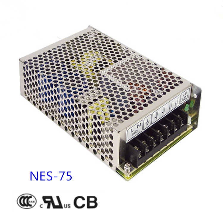 Free shipping 1pc  NES-75-15 75w 15v   5 A Single  Output Switching Power Supply