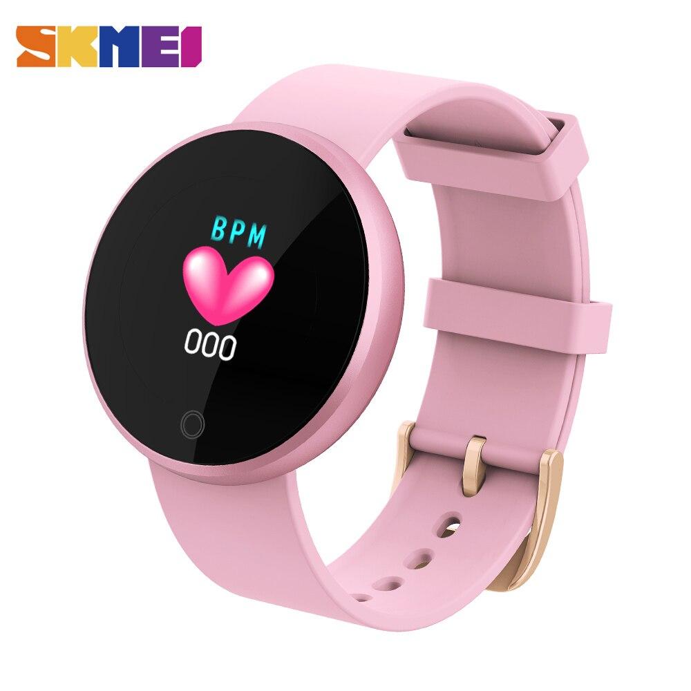 SKMEI Smart Bluetooth Ladies Watches Fashion Smart Watch Women Calories  HeartRate Watch Beauty Digital Wristwatch B36 e78376d2b12e4