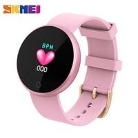 SKMEI Smart Bluetooth Ladies Watches Fashion Smart Watch Women Calories HeartRate Watch Beauty Digital Wristwatch B36 relogio