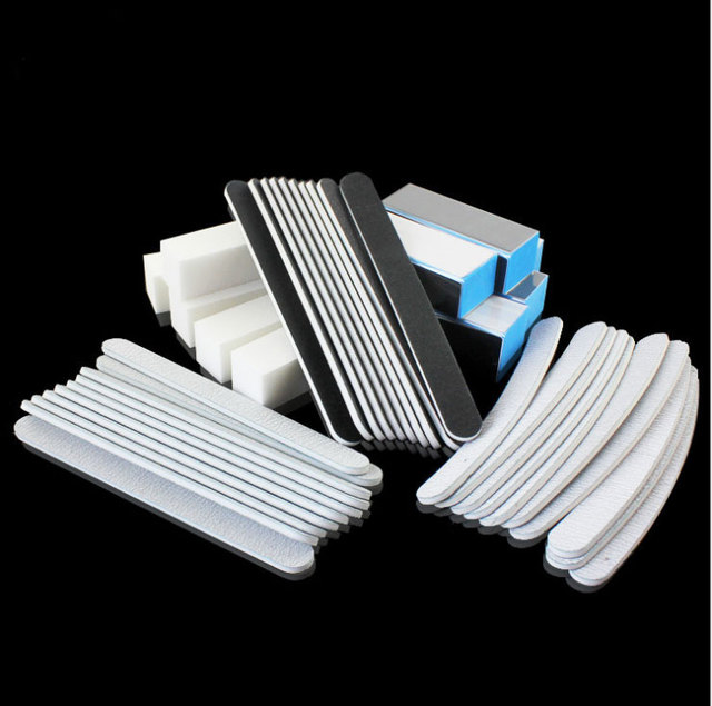 40pcs/lot Manicure nail tools , nail sanding  file care tools . Nail buffer block  tools kit  at free shipping