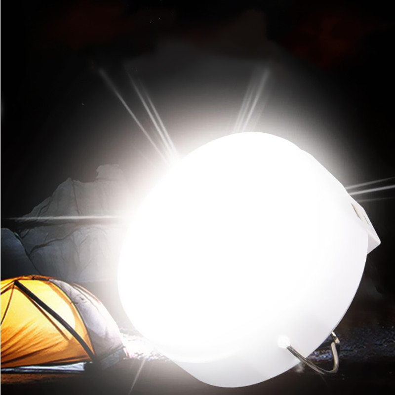 High-quality camping lanterns USB charging LED night lights emergency lamps with magnetic portable tents fishing lights outdoor filled with water on the glowing green camping emergency lights
