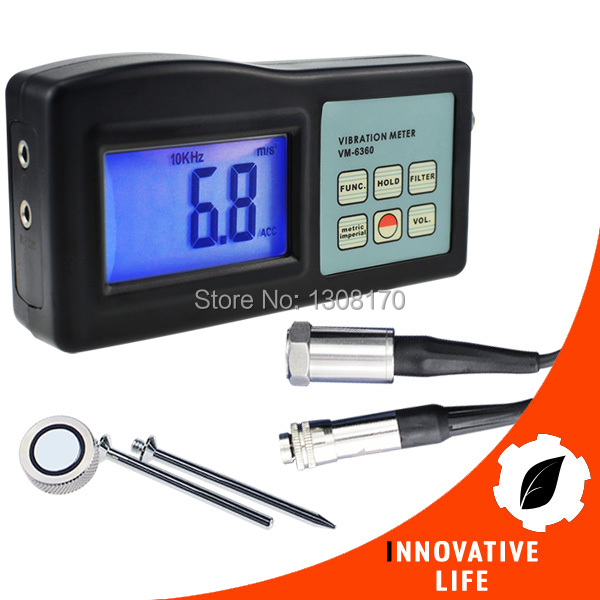 Digital Vibration Meter 10Hz-10kHz Measures Acceleration Velocity Displacement RPM Frequency Vibrometer Gauge Tester Analyzer  цены