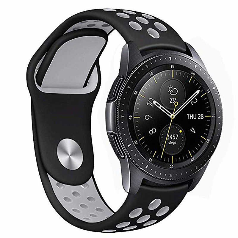 ASHEI 22mm 20mm Silicone Strap For Samsung Galaxy Watch 46mm 42mm Gear S3 Frontier/Classic S2 Sport Band For Huami Amazfi Bip