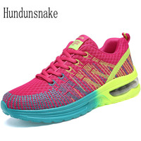 Hundunsnake Red Sneakers Women 2017 Running Shoes Gym Ladies Shoes Sport Female Air Mesh Shoes Women Krasovki Summer Gumshoe T22
