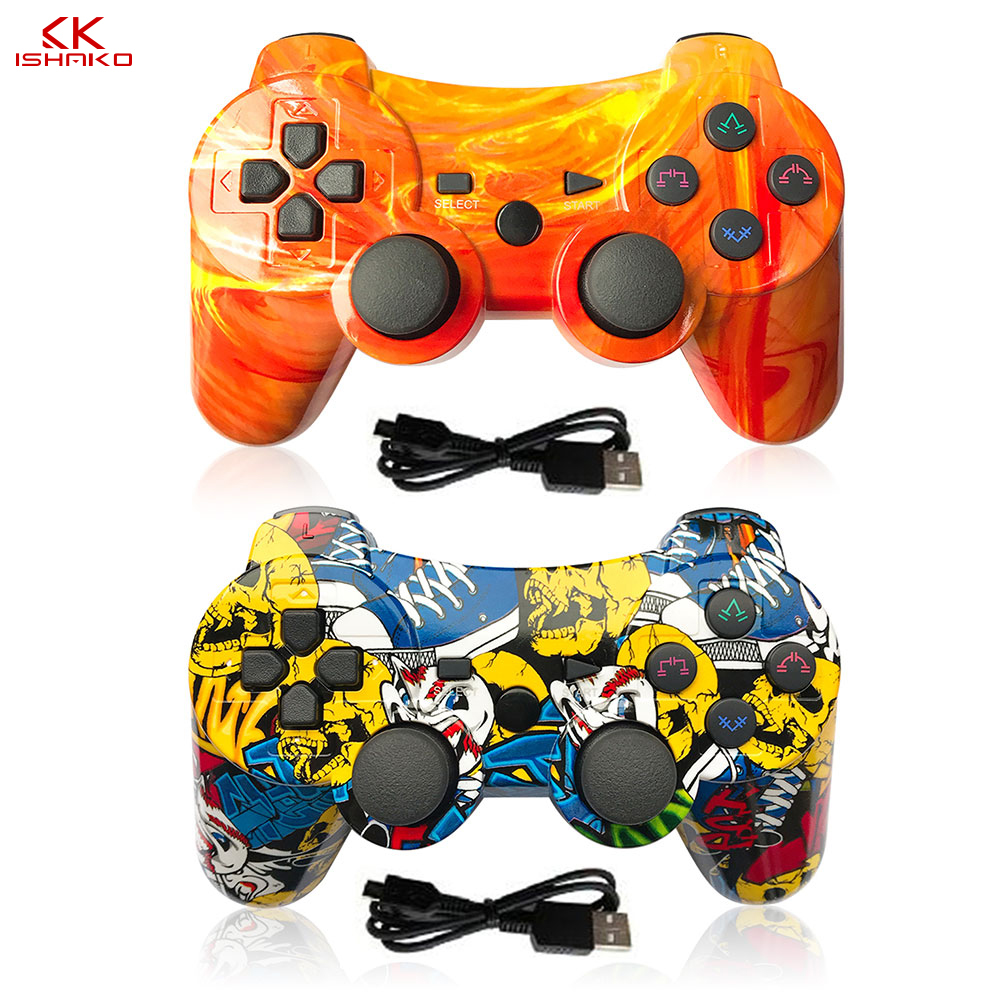 Wireless 1pc/2pcs Bluetooth Pro Controller Gamepad Joypad Remote for PC/PS2/PS3 Console Joystick