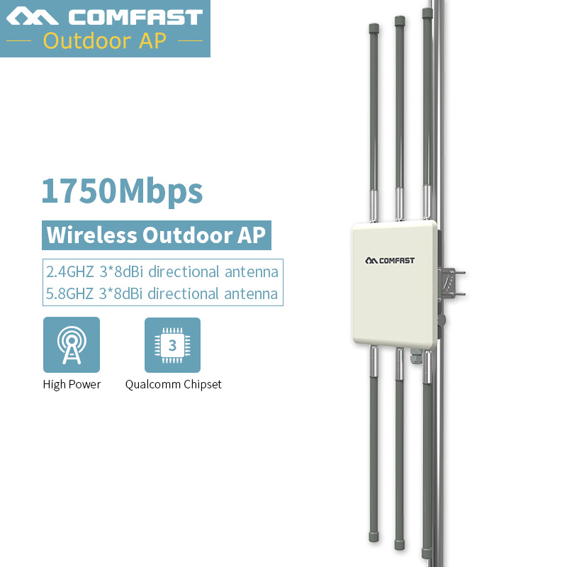 High Performance Outdoor Wireless Router CPE 500mW 2 4G 450mbps 5G 1300mbps Base AP Dual 3