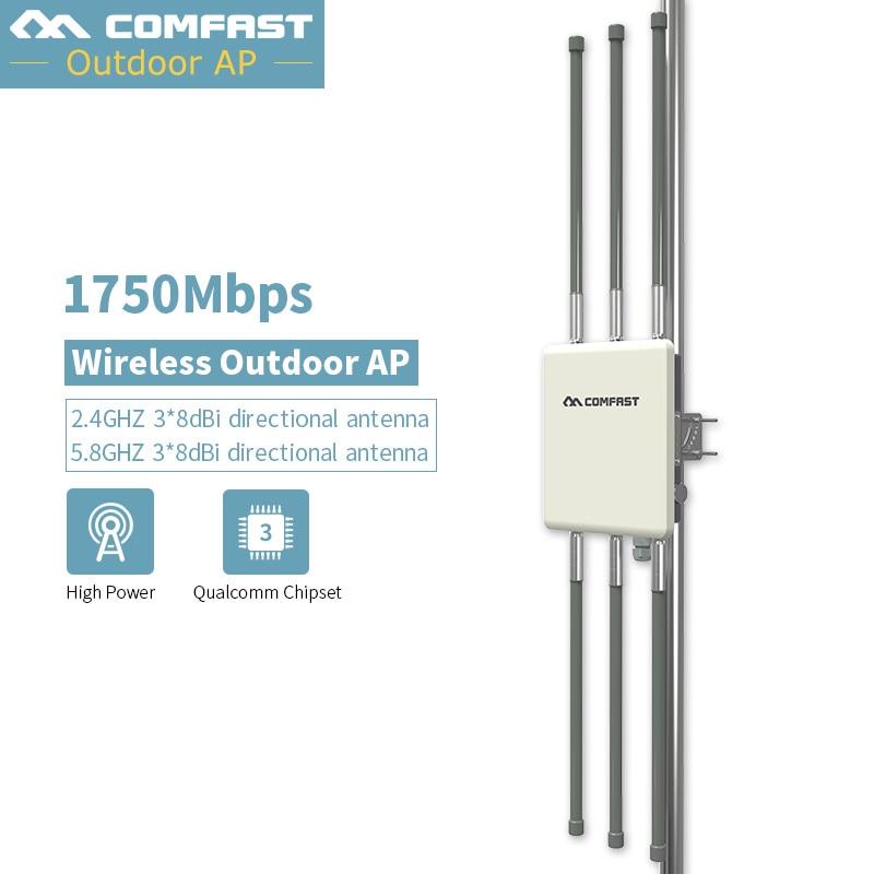De alto rendimiento al aire libre Router inalámbrico CPE 500 mW 2,4G 450 mbps + 5G 1300 mbps Base AP Dual 3 * 8dBi antena exterior wifi AP-in Routers inalámbricos from Ordenadores y oficina on AliExpress - 11.11_Double 11_Singles' Day 1