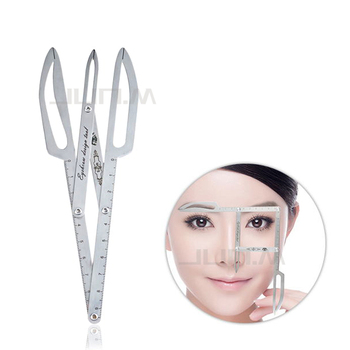 1 pcs Golden Ratio Scale Measure Microblading Stainless Steel Ruler Permanent Makeup Eyebrow Tattoo Design Calipers Stencil