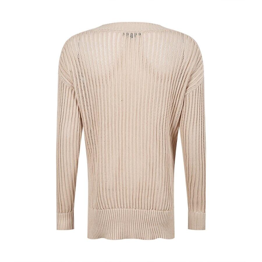 Loose Crochet Sweater Women Pullover V Neck White Summer Big ...