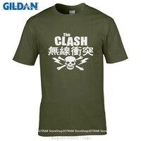 Возьмите Повседневная футболка модные Для мужчин и женщина футболка бесплатная доставка Clash японский череп футболка СКА новая волна панк п...