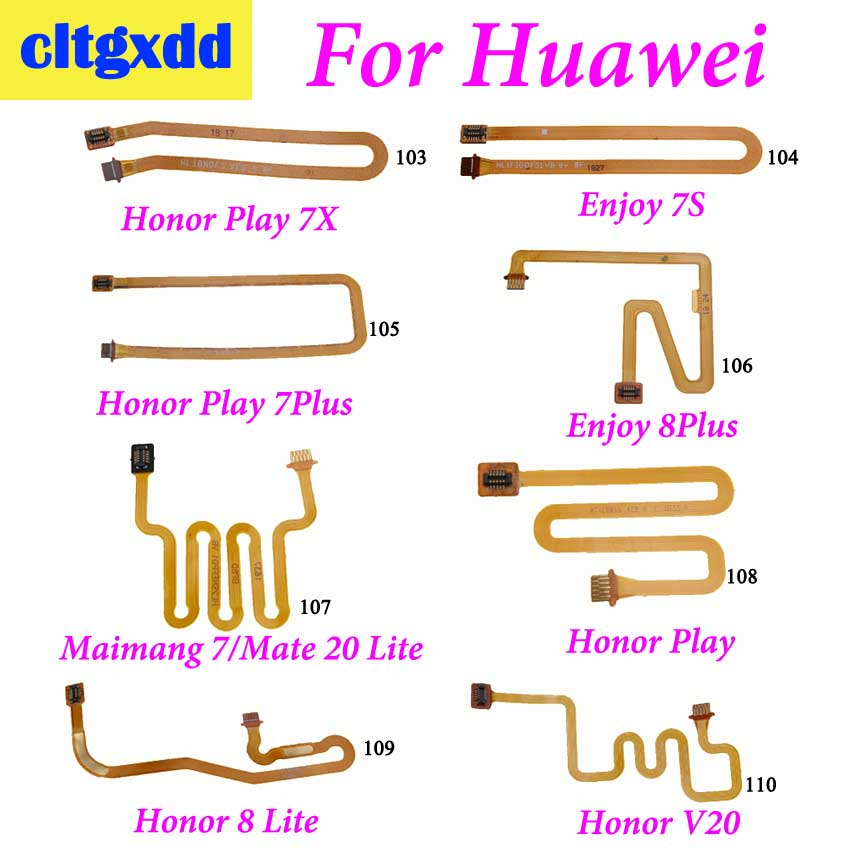 cltgxdd For <font><b>Huawei</b></font> <font><b>Honor</b></font> Play 7X 7S 7Plus 8Lite V20 Fingerprint Sensor Scanner Touch ID Connect <font><b>Motherboard</b></font> Flex Cable Connector image
