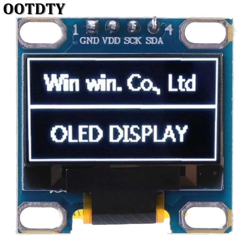 OOTDTY 0.98 OLED Module White Color 128X64 LCD Display IIC Module DIY For Arduino New