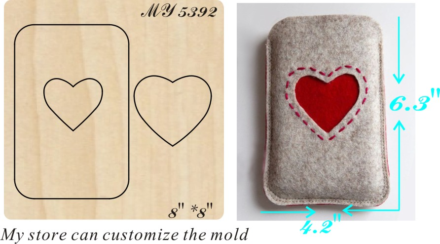 Heart shaped handmade bag new wooden mould cutting dies for scrapbooking Thickness 15 8mm