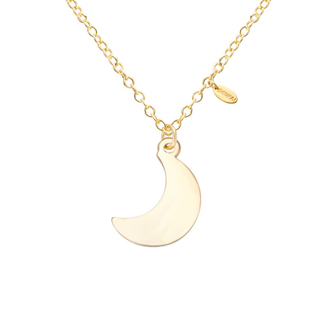 dcfdb31c44 Senfai Simple Fashion Cut Stainless Steel Moon Pendant Necklace Cute Women  Jewelry Best Gift Birthday Couple Gifts