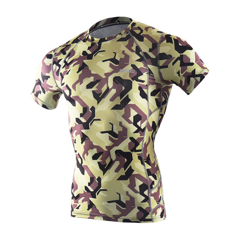 Men Base Layer Quick Dry Short Sleeve Sport Under Base Bicycle Bike MTB Bike Bicycle Breathable Cycling Base Layer