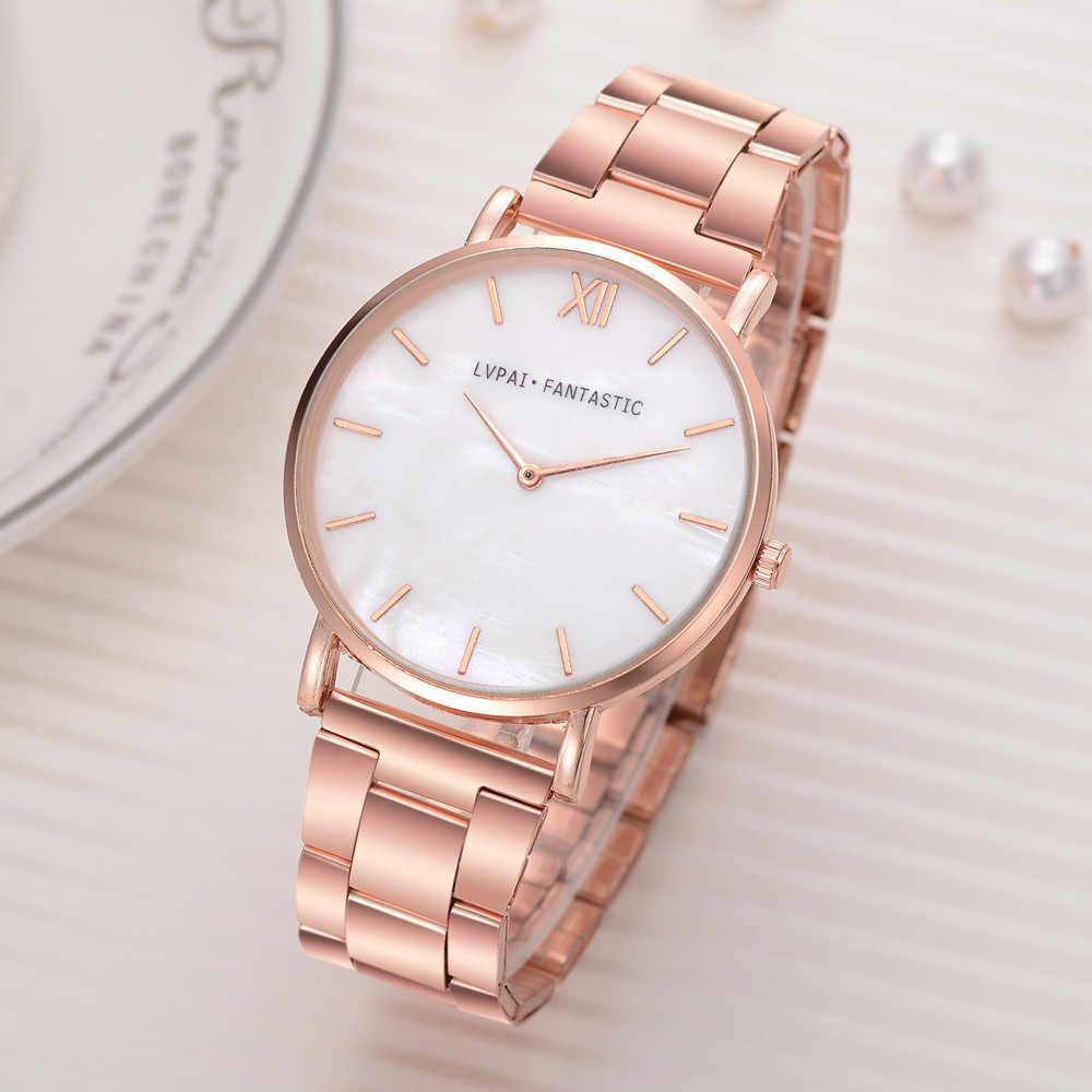 Reloj Lvpai para mujer, reloj de pulsera de cuarzo con correa de acero, relojes de mujer, relojes de mujer, reloj femenino