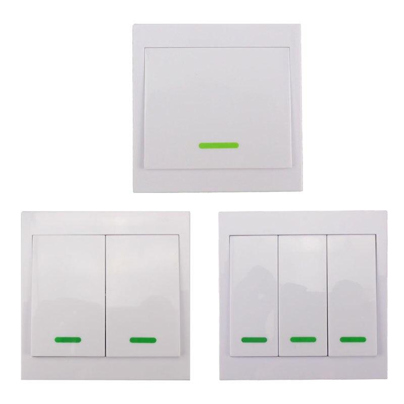 Panel de Pared de Casa inteligente Transmisor Remoto 1/2/3 Botón Pegajoso Inalám