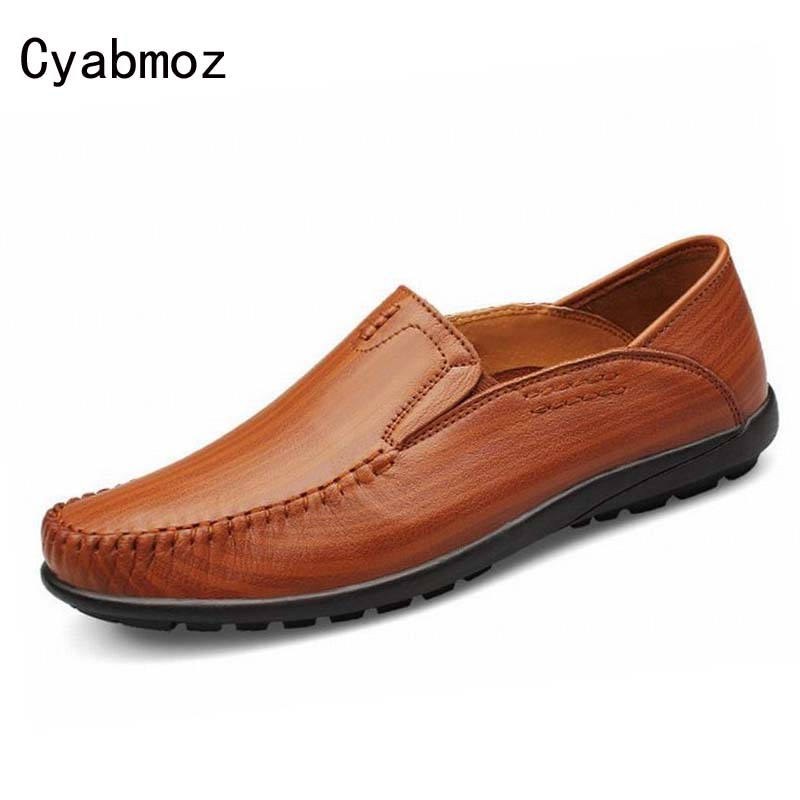 Top Quality Real Genuine Leather Men Flats Casual Shoes Soft Loafers Comfortable Driving Shoes Men Creepers Shoes zapatos hombre cbjsho brand men shoes 2017 new genuine leather moccasins comfortable men loafers luxury men s flats men casual shoes