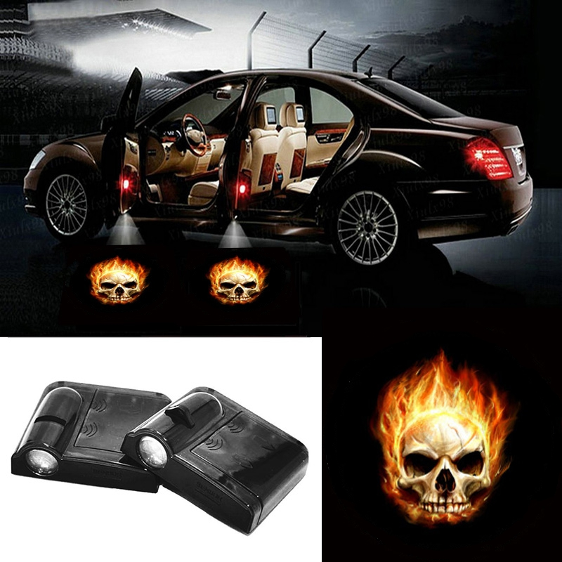 c0d8f9095 Magnet Sensor for Renault Opel 2 X Wireless Car Door LED Projection Fire  Skull Projector