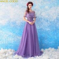 Романтическое Фиолетовое Женское вечернее платье для беременных Одежда для беременных с v образным вырезом аппликации с бисером и блесткам