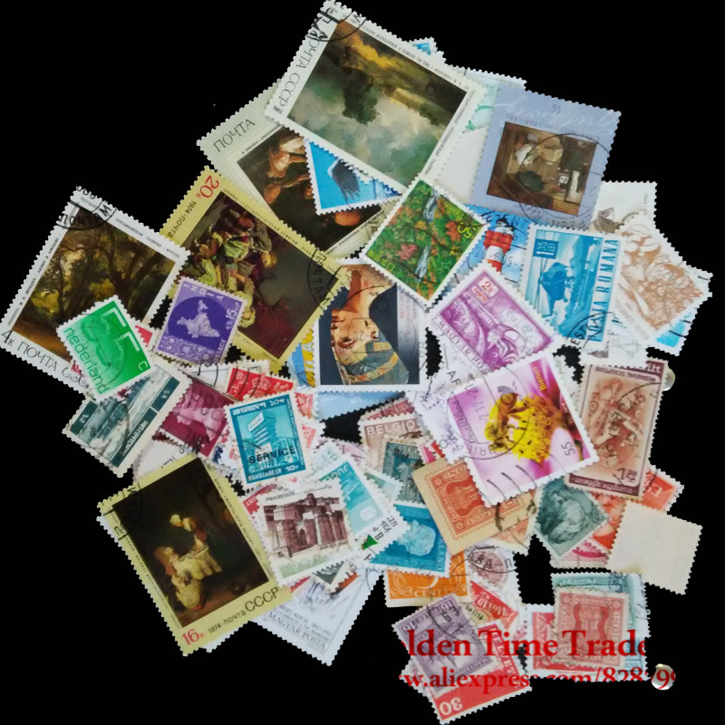 100 Pcs / lot Postage Stamps Good Condition Used With Post Mark From All The World Wide For Collecting Gift used in good condition bt 900 with free dhl ems