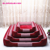 GLORIOUS KEK Winter Dog Bed 2018 Canvas Fleece Dog Bed House for Small Medium Breed Removable Cover Pet Dog Sofa Washable Coffee