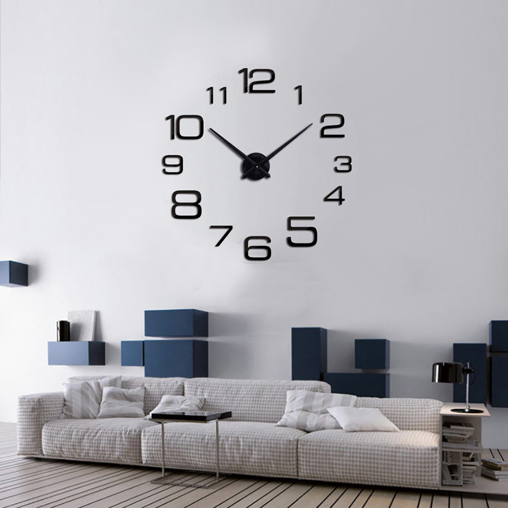 2019 Wall Clock Modern Design Creative Digital DIY Wall Clock Mirror Wall Clock Home Decoration Reloj De Pared Home Decoration