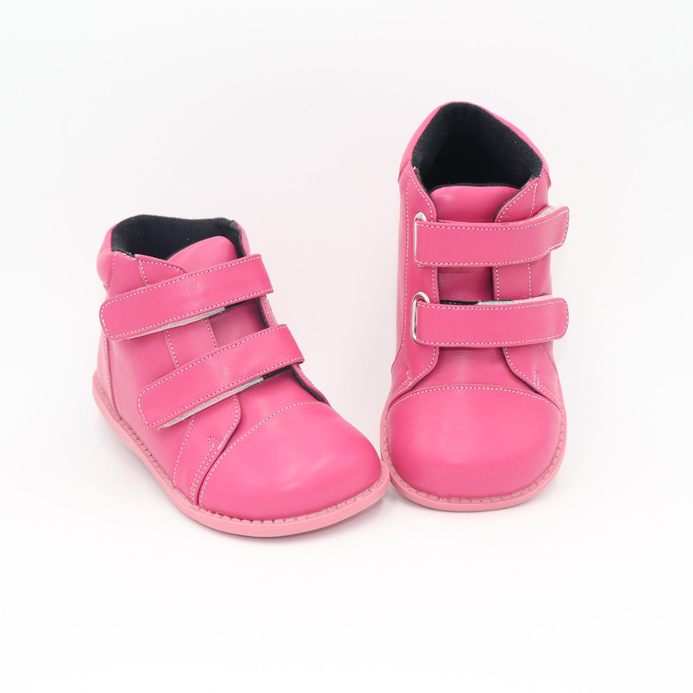Tipsietoes 2018 New Winter Children Shoes Leather Martin mid calf Kids Snow Girls Boys Rubber Boots