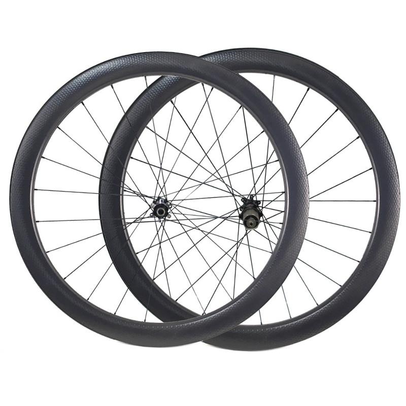 Carbon Dimple Wheels 45mm Depth Carbon Wheelset Disc Brake Wheels Clincher Tubular 700C Wheelset D411 D412