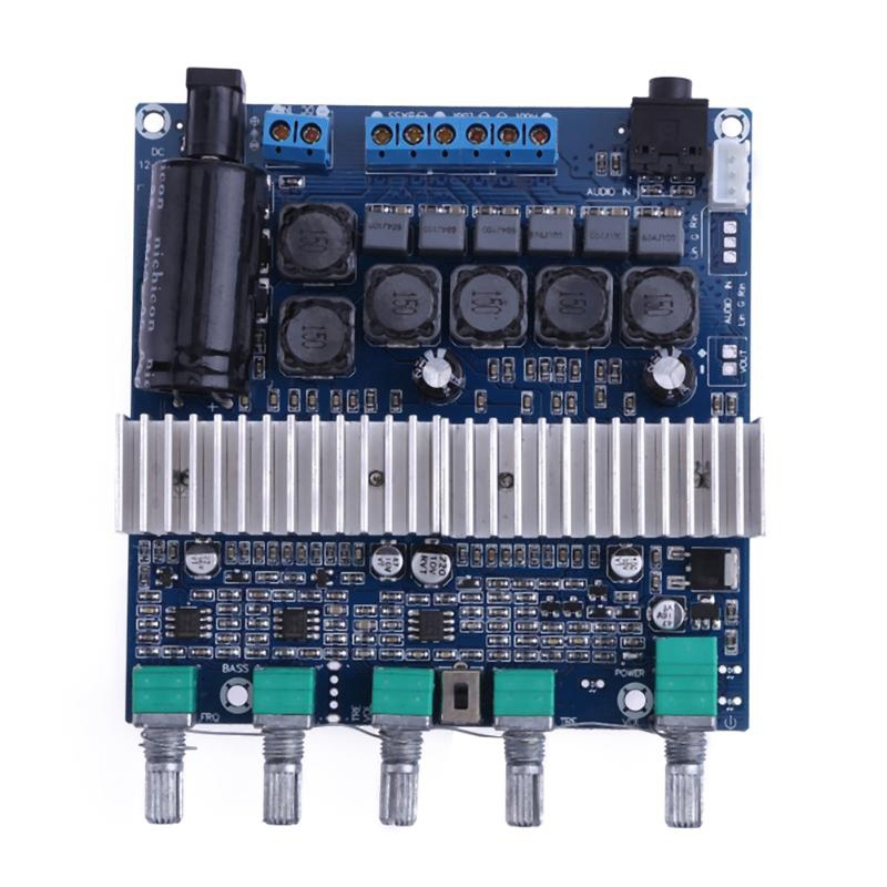 Tpa3116 Subwoofer Amplifier Board 2.1 Channel High Power Bluetooth 4.2 Audio Amplifier Board Dc12V-24V 2x50W+100W