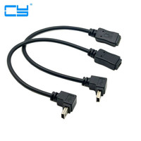 90 Degree Up Down Direction Angled Mini USB 5 Pin Male To Female Extension Cable 0