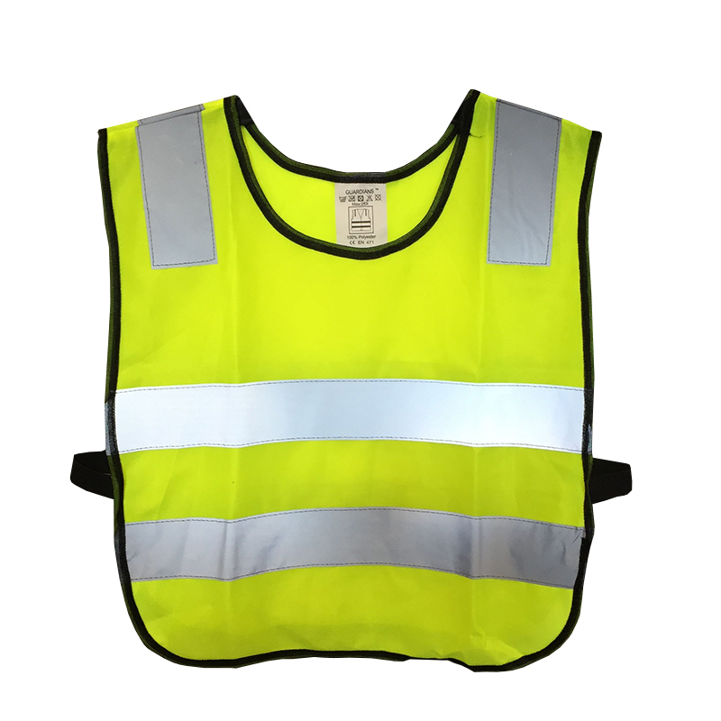 High Visibility Pupil Child Student Kid Reflective Traffic Vest Scooter Cycling Safety Vest Jacket new style breathable mesh high visibility reflective traffic safety cycling vest printable words logo