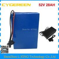 2500 Вт 52 В батареи 52 В 28AH аккумулятор 51,8 В 28AH ebike батареи использовать NCR18650GA 3500 мАч ячейки с зарядным устройством Бесплатная таможенной пошлин