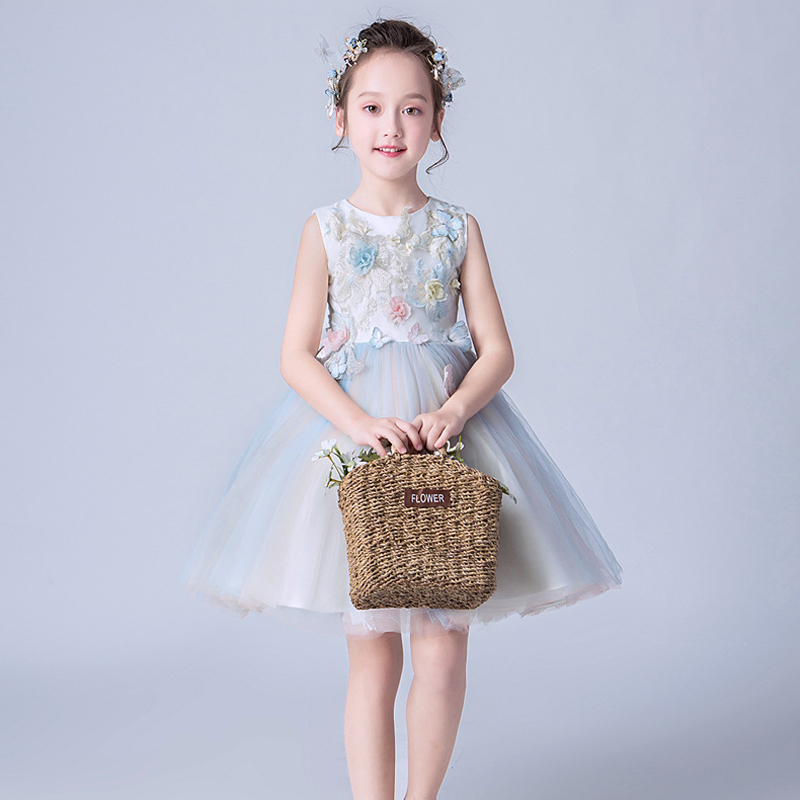 IYEAL Appliqued Tulle Ball Gown   Flower     Girl     Dresses   2019 Beautiful First Communion   Dresses     Girls   Pageant   Dress   Kids Prom   Dress