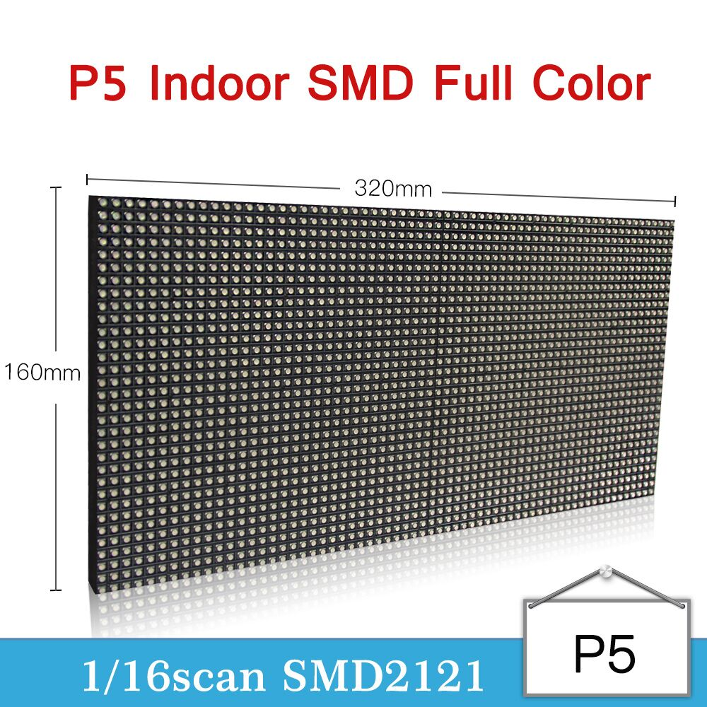 P5 Indoor Rgb Full Color Led Module 1/16 Scan 32x16cm Led Module Indoor Led Video Panel P5