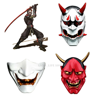 Japanese Buddhist Evil Oni Noh Hannya Mask Halloween Props Cosplay Masks Resin